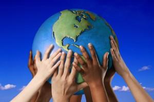 Hands-holding-globe