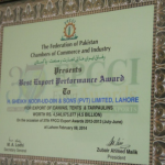 Best Export Performance 2012-2013