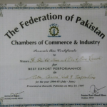 Best Export Performance 1994-1995